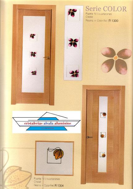 Cristales para puertas for Puertas con vidrieras decorativas